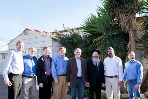 Left to right, Avi Zimmeman – Ariel, Rep. Louie Gohmert (R-TX-1st), Tony Perkins – President – Family Research Council, Rep. John Fleming (R-LA-4th), Rep. J. Randy Forbes (R -VA-4th), Rabbi Eliezer Melamed – Har Bracha, David Ha'ivri -Shomron Liaison, Rep. Jim Jordan (R-OH-4th) (Photo: Heather Meyers)