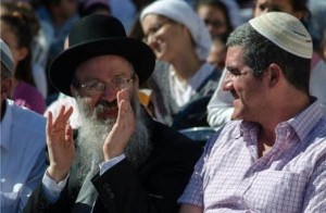 Rabbi Eliezer Melamed and David Ha'ivri