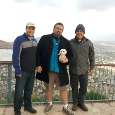 David Ha'ivri with Elie Pieprz and Ryan Bellerose on Mount Gerezim 2016