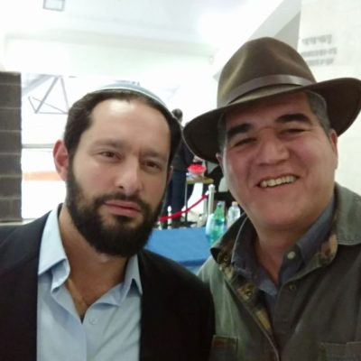 David Ha'ivri with Yehuda HaKohen, Ariel Jan. 2017