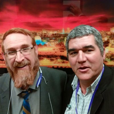 David Ha'ivri with MK Rabbi Yehuda Glick, Knesset Jerusalem Dec. 2016