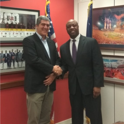 David Ha'ivri with Senator Tim Scott R-SC Washington DC March 2017