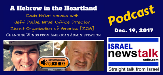 Jeff Daube, Zionist Organization of America, ZOA